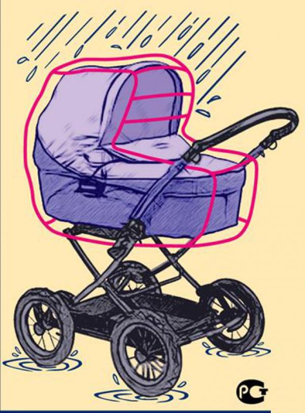 Дождевик на коляску своими руками выкройка фото 42